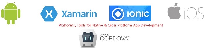 Some Examples of Native and Cross Platform App development technologies