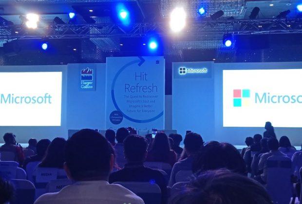 Satya Nadella Hit Refresh book launch Delhi