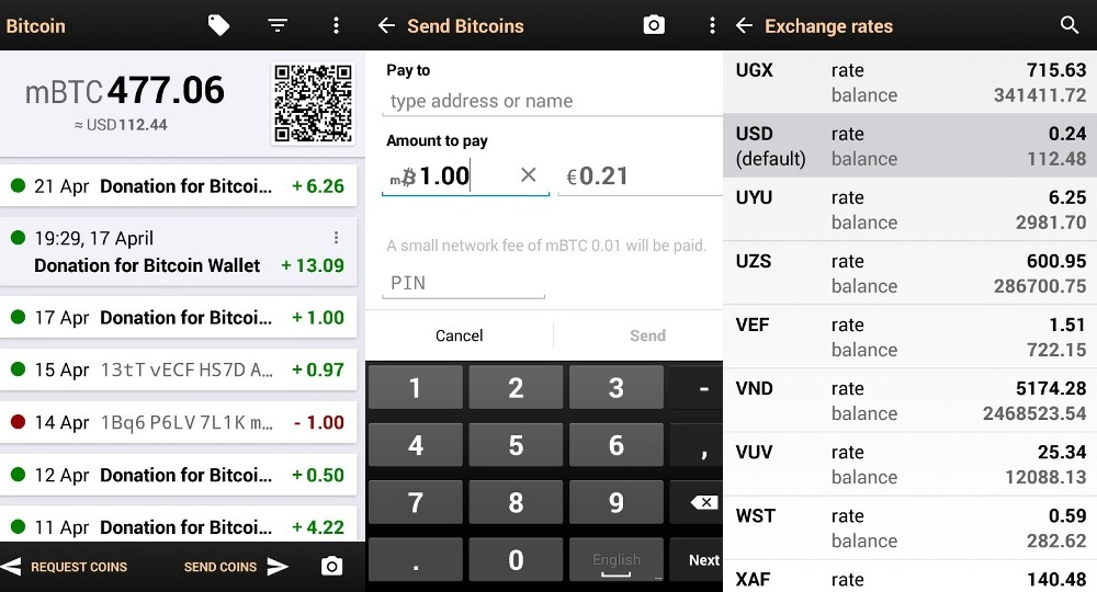 Bitcoin Wallet - an open source app