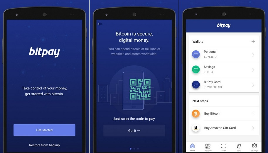 The Bitpay Bitcoin App