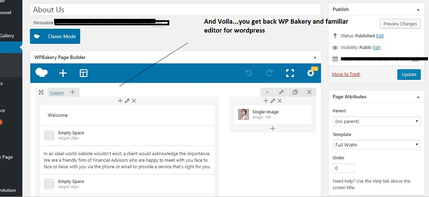 How i got back my wordpress classic editor  and WPBakery to work
